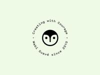 Wabi Suavé since 2010 puns silliness owl seal logo branding