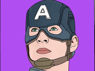 Captain America art graphic design ui design vector illustration
