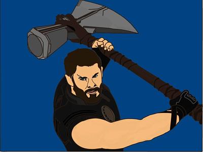 THOR-God Of Thunder graphic design design art vector illustration