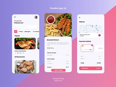 Food delivering App ui ux designer kerala app design ui vector illustration icon branding logo motion graphics graphic design 3d animation
