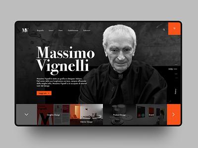 Massimo Vignelli website UI webdesign website ui design ui