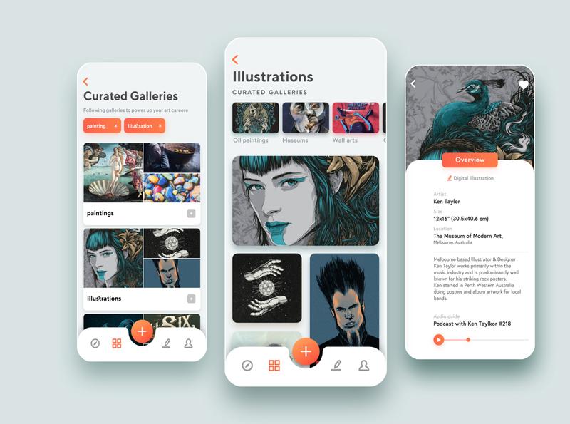 Gallery App UI ux uiux art gellery appuidesign appui app ui