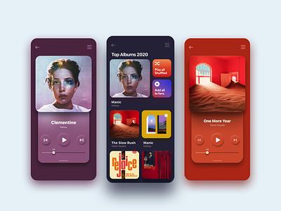 Album Cover Color Responsive Music player UI app appuidesign appui player player ui music player music uidesigns uidesigner uidesing uiux designer uiuxdesign ui design uiux ux ui