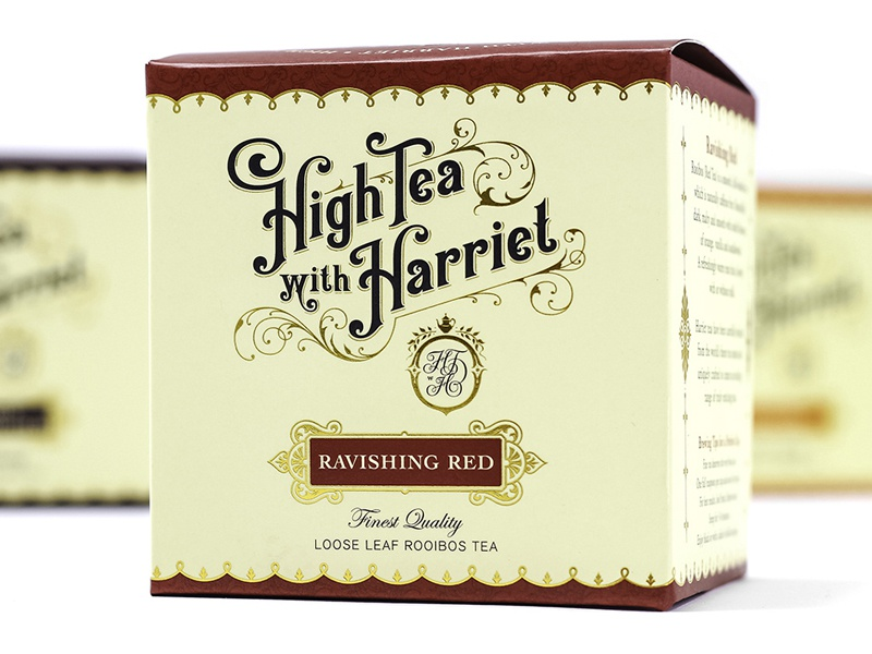 High Tea with Harriet branding packaging design hand-lettering type typography vintage logo retro ornate design classic