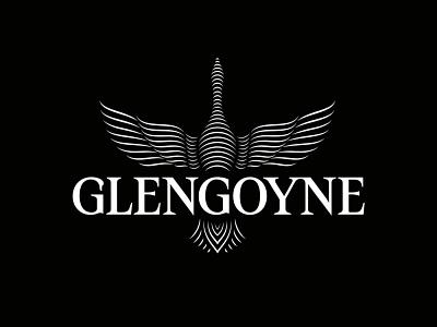 Glengoyne Logo graphic design vector mark logomark lettering crafted logotype whisky whiskey logo branding