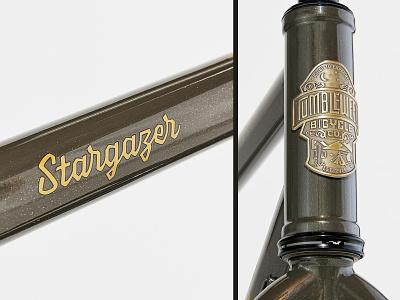 Tumbleweed 'Stargazer' decal type typography branding lettering logo design
