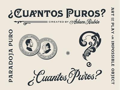 Cuantos Puros branding brand handlettering illustration vintage type typography branding lettering logo design