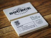 Source letterpress business cards