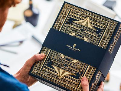 Royal Salute – Festive Pack monoline vector vintage decoration detail drawing design nature illustration package design