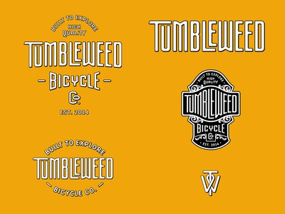 Tumbleweed Bicycle Co. Branding bikes identity logotype handlettering branding design letters lettering logo