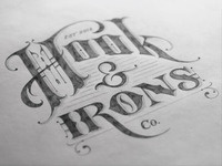 Hook & Irons Co. – Logo Sketch
