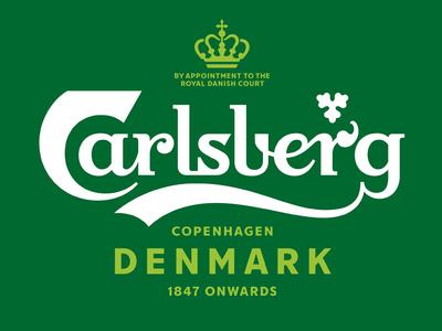 Carlsberg Rebrand – Lock up & brand typeface identity type logo lettering typography branding