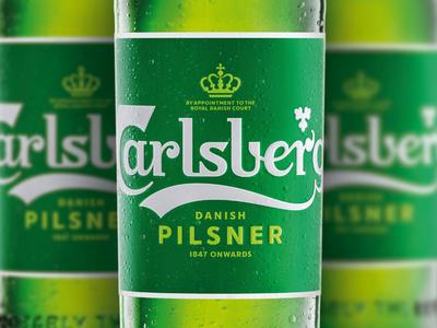Carlsberg Rebrand – Bottle identity logo lettering design typography branding