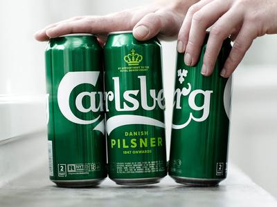 Carlsberg Rebrand – Snap Pack – Reducing Plastic Waste idenity letters type typography logo branding