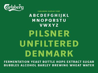 Carlsberg Rebrand – Upper Case Specimen grotesque san serif font typeface type typography lettering branding