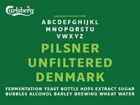 Carlsberg Rebrand – Upper Case Specimen