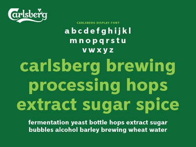 Carlsberg Rebrand – Lower Case Specimen sans serif grotesque logo lettering letters typography type branding