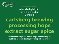 Carlsberg Rebrand – Lower Case Specimen