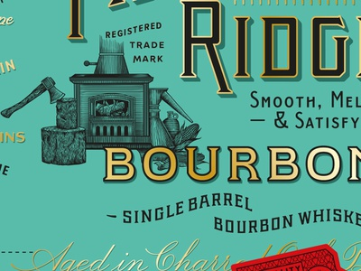 Bourbon Package spirits premium luxury label handdrawn etching packaging illustration typography lettering design
