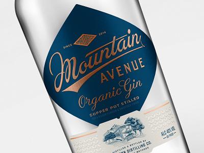 Mountain Avenue Gin branding logo premium craft luxury luxury brand package design packaging packagedesign illustration lettering design