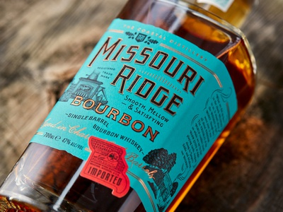 MISSOURI RIDGE BOURBON 2 typography vintage type lettering craft label distillery handdrawn branding logo design