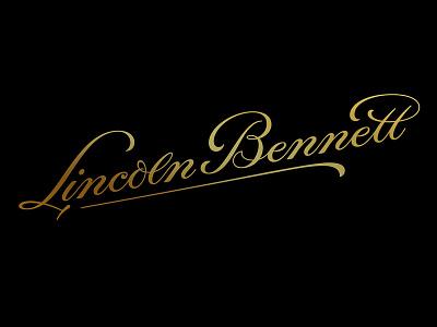 Lincoln Bennett Branding – 1 hand-drawn typography design brand type font logotype luxury identity script logo branding