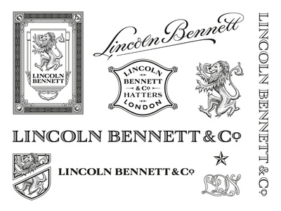 Lincoln Bennett Branding – Full type design luxury packaging typeface letters handdrawn branding illustration type typography logo lettering design