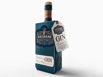 Brisbane Distillery Branding and Package – 1 hand-lettering luxury gin decorative design illustration typography type brand design brand identity logo branding