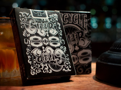 Bicycle Club 808 brown black rich bicycle club 808 cards playing game fun cool playing cards tuck bar drinks club tender texture flourish
