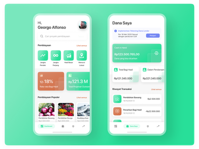 Investment App interface investment list mobile clean ios card explore app ux design ui