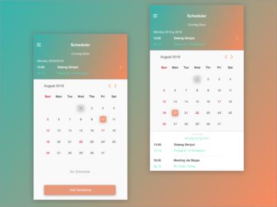 Scheduler App ui schedule notes callendar