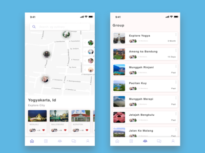 Group Traveling list ios maps travel explore group