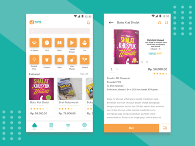 Redesign Yufid Store Android Apps android marketpalece design app ux mobile islami ui design ui sketch store
