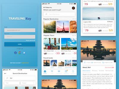 Exploration : Traveling Kuy explore design app sketch adobe xd ux ui traveling