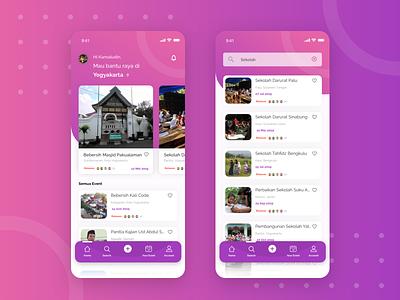 Gotong Royong clean mobile list ios card sketch explore ux design app ui