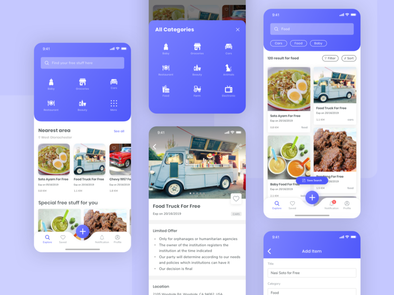 Exploration : Free App list clean ios card sketch explore ux design app ui