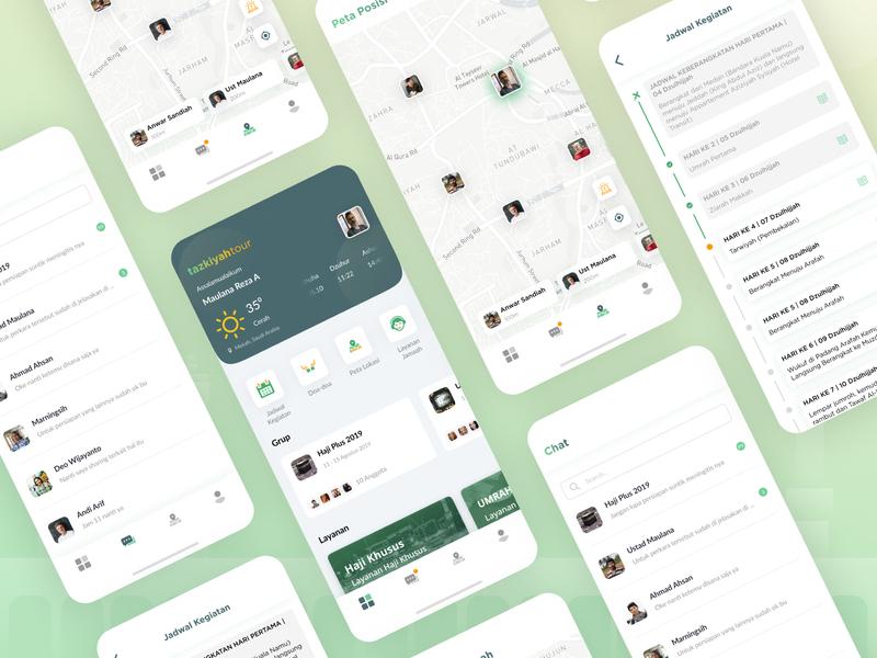 Hajj & Umrah Apps maps mobile card clean ios figma explore ux design app ui
