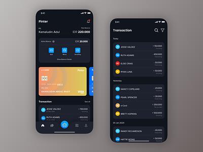 Exploration Bank App banking dark ui credit card payment cards bank app list clean sketch ios card explore app ux design ui