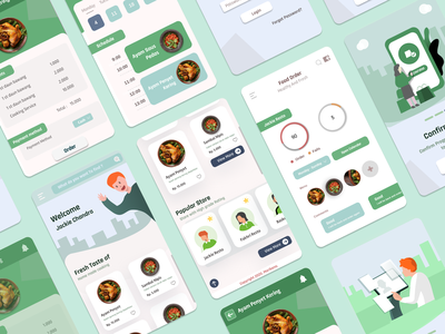 Food Delivery App app icon illustration vector ux ui design
