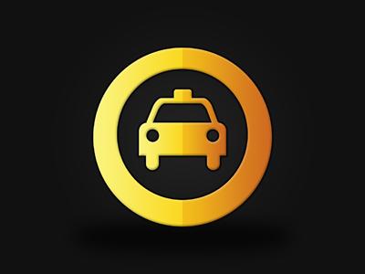 Taxi Company Logo #2 taxi cab logo yellow 2 two circle circular
