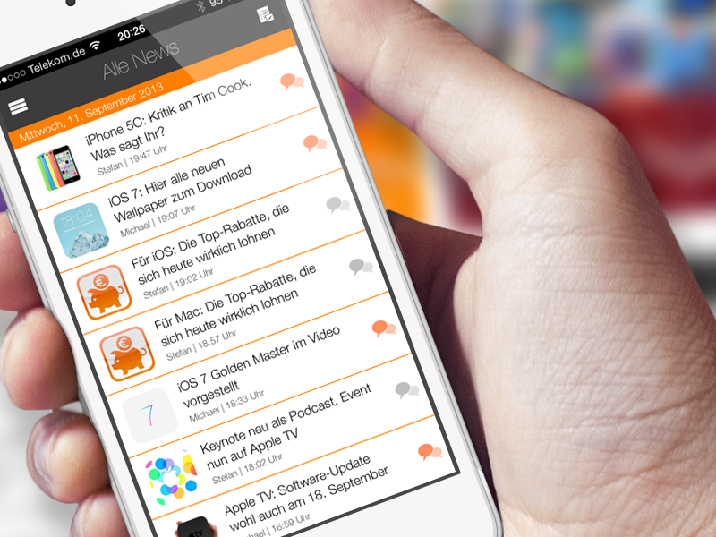 UI Design: Flat News App iTopnews by marcintosch - Dribbble