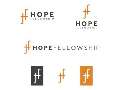 Hope Fellowship branding church plant church branding branding logo church logo church