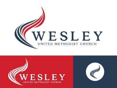 Wesley UMC logo church branding branding logo church logo church