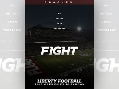 Liberty Football 2016 Playbook Cover playbook college football liberty university liberty