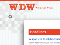 Web Design Weekly