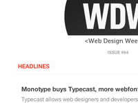 Web Design Weekly V4