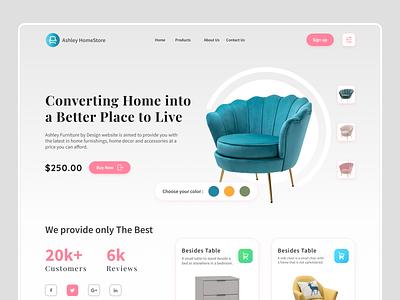 Furniture Company Web Design Concept minimal shop store ecommerce app design product design ux ui web design furniture sofa architecture interiors architecture furniture design