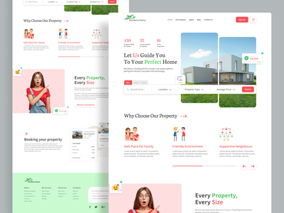 Real Estate Home Page | Property Landing Page Concept mobile app real estate app rent app minimalist minimal landing page buy sell realtor apartment typography product design home page ux ui home house home rent real estate property web design