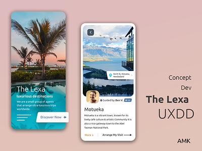 Travel Guide - App Concept luxurious design ux