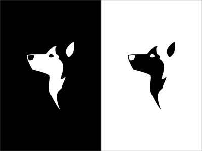 Husky inktober inktober2019 negativespace design flat vector icon logo illustration